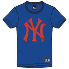 T-shirt Precur Yankees Blu Rosso Xs