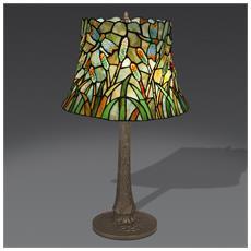 Lampada Da Tavolo Canneto In Vetro Stile Tiffany