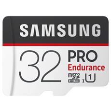 MicroSD PRO Endurance da 32GB Velocità UHS-I di Classe 10 fino a 100 MB / s in Lettura + Adattore SD