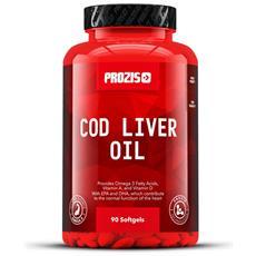 Olio Di Fegato Di Merluzzo 1000 Mg 90 Softgel Vitamina Acidi Grassi Cuore Salute-