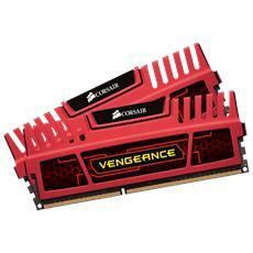 Memoria Dimm Vengeance Red 8 GB (2 x 4GB) DDR3 1600 MHz CL9 Dissipatore Rosso
