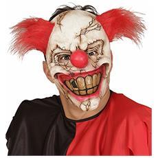 Maschera Mezzo Viso Killer Clown Con Ca.