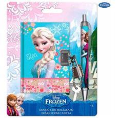 Mini Diario Taccuino Con Lucchetto+penna Abbinata Scuola Disney Frozen