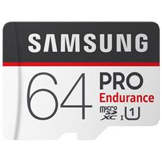 MicroSD PRO Endurance da 64GB Velocità UHS-I U1 di Classe 10 fino a 100 MB / s in Lettura + Adattore SD