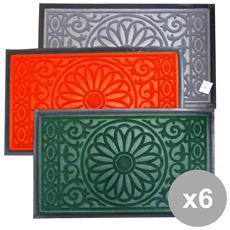 Set 6 Con Bordo Zerbino 45x75 Tapfo0045 Tappeti