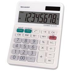 Calcolatrice da Tavolo LCD Colore Bianco