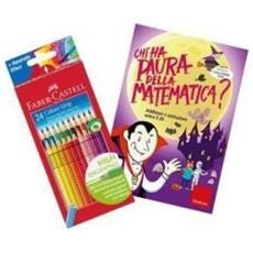 Libro Analogico Chi Ha Paura a Matematica 1 + 12 Pastelli