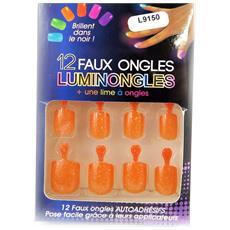 plank unghie finte 'luminongles' arancio - [ l9150]