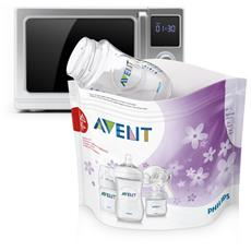 0 - 6 months, Sterilize up to 3 bottles at once or 1 breast pump