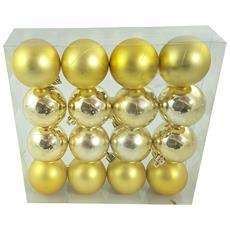 Palline Di Natale Color Oro 16pz