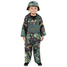 costume militare s army boy, top, pantaloni, zaino