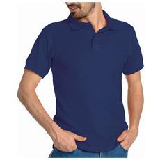 Polo Mezza Manica In Cotone Piquet Colore Blu Navy Taglia Xl