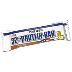 32% Protein Bar [24 Barrette Da 60g] Gusto Banana & Cioccolato Bianco- Barrette Proteiche