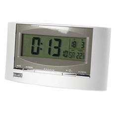 HE-CLOCK-32, LCD, 180g, Nero, Argento, 9,5 cm, 16,5 cm, 6 cm