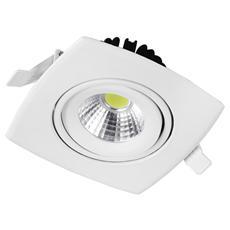 INC-KLIPPE-8F - Lampada da incasso a led luce fredda Nikel Klippe 8 Watt cm 10,3 x 10,3