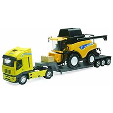 DieCast 1:32 Camion Iveco Stralis + New Holland Harvester Cr9090 05653