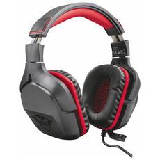 Cuffie Gaming Creon GXT 344 con Cavo e Microfono Colore Nero / Rosso