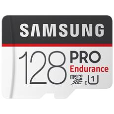 MicroSD PRO Endurance da 128GB Velocità UHS-I U1 di Classe 10 fino a 100 MB / s in Lettura + Adattore SD
