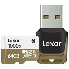 MicroSDHC / MicroSDXC UHS-II 64 GB Professional 1000x Classe 10