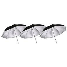 Ombrello Argento / nero 110cm Set 3 Pz.