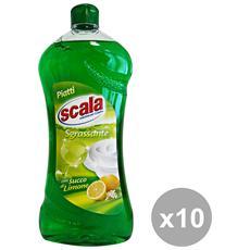 Set 10 Piatti 750 Ml. Limone Detergenti Casa