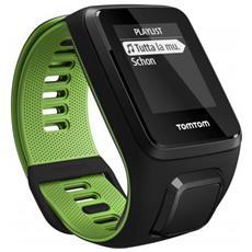 Sportwatch Runner 3 GPS Ipermeabile 5 ATM con Bluetooth Cardiofrequenzimetro Integrato Taglia S Colore Nero / Verde