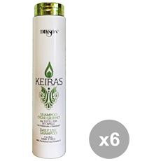 DIKSON - Set 6 Shampoo Keiras Daily Use 250 Ml. Prodotti Per Capelli 2326b0e64066