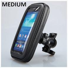 Supporto Bici Universale Medium Resistente Allacqua Con Fissaggio Tubolare Per Samsung Galaxy S4 E Modelli Similari Nero