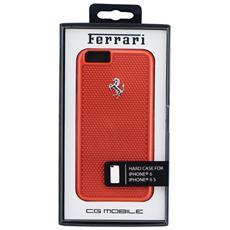 """Original Cover Custodia Ferrari Hardcover Custodia Fepehcp6re Perforated Aluminium Iphone 6 4""""7 Rosso"""
