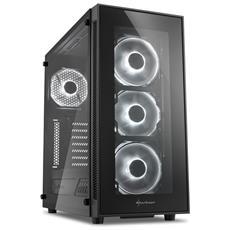Case TG5 Middle Tower ATX / Micro-ATX / Mini-ITX 2 Porte USB 3.0 Colore Nero / Bianco (Finestrato)