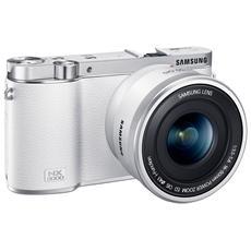 SAMSUNG - NX3000 Bianco Kit 16-50mm F / 3.5-5.6 + Flash SEF-8A Sensore CMOS 20.3Mpx Display 3'' Filmati Full...