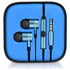 Kit Auricolari Hf Stereo Android Box Mi Metallico Azzurro