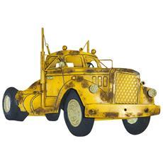 Camion In Metallo Dipinto A Mano Da Appendere L63xpr2xh43 Cm