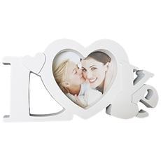 Cornice Portafoto Da Tavolo Scritta Love Amore Bianco Fotografie Porta Foto Idea Regalo