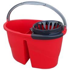 Secchio H2o Con Strizzatore + Mop + Manico Cm. 120 Colore Rosso