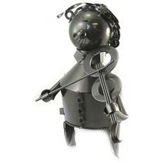 bottle holder 'sculpture métal' violinista - [ n5490]