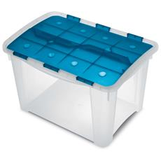 Contenitore Home Storage Home box 40 h oceano / trasparente L37,2 x P53,9 x H33,3