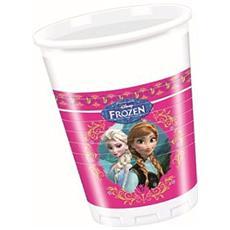 Frozen - Bicchieri di Plastica 8 Pezzi