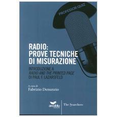 Radio. Prove tecniche di misurazione. Introduzione a «Radio and the printed page» di Paul Lazarsfeld