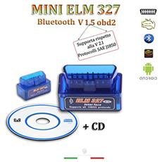 Mini Elm 327 Versione 1.5 Strumento Diagnostica Protocollo Obdii Diagnosi Per Auto Interfaccia Bluetooth Obd2