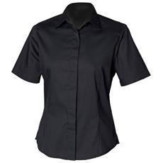Camicia Maniche Corte Donna (xs) (nero)