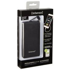 S10000, Polimeri di litio (LiPo) , USB, Nero, USB, Telefono cellulare, Smartphone, LED