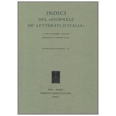 Indici del «Giornale de' Letterati d'Italia». Con DVD
