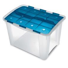 Contenitore Home Storage Home box 60 h oceano / trasparente L41,2 x P59,5 x H38,5