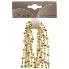 Ghirlanda Natalizia con Perle Colore Oro da 2.7 m