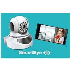 SmartEye Videocamera Wireless rotazione 360 gradi da interni