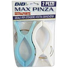 Mollette Maxi Pinza X 2 Pezzi - Accessorio Per La Casa