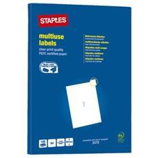 Etichetta Multiuso Bianco 210x297 Mm (confezione 100 Pezzi)