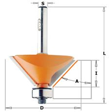 Fresa X Smussare 15° C/cusc. Hw S=6 D=19x11.5x55 Dx 736.130.11