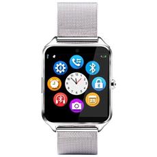 Smartwatch Z60 Slot Scheda Sim E Sd Card Bluetooth Fotocamera Orologio Telefono Silver